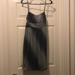Sparkly silver formal dress